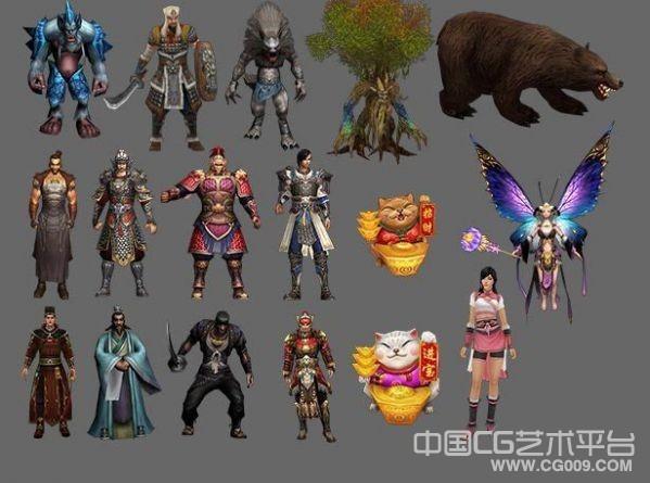 神武游戏人物模型+怪物模型合集下载