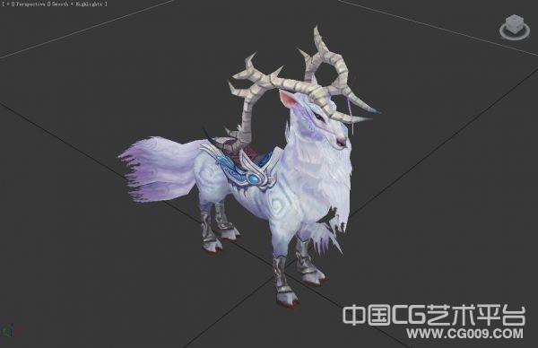【诛仙】骑宠鹿蜀3d模型下载