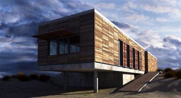 木房子3d现代室外建筑场景模型下载