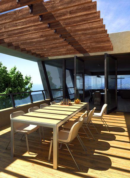 露天餐桌室外建筑场景模型下载