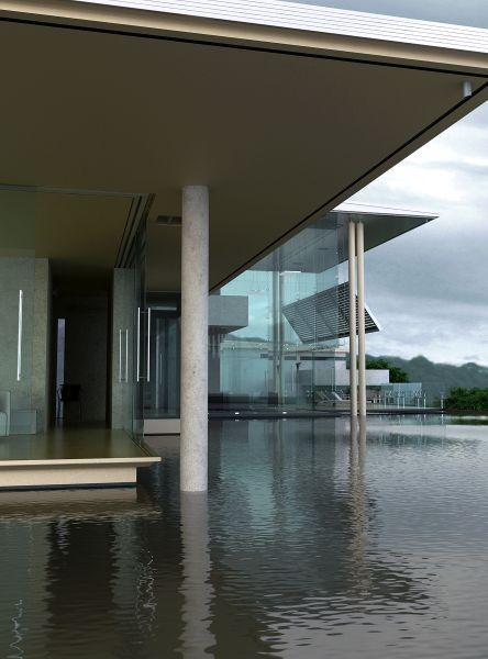 水上室外建筑场景模型下载