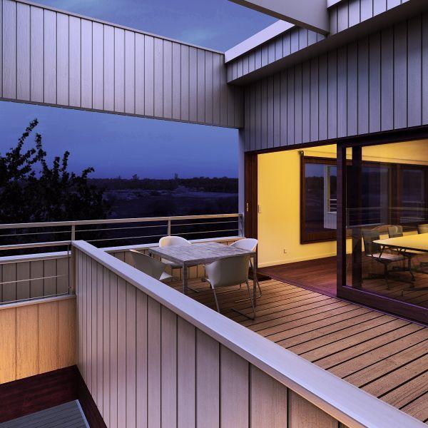 室外阳台夜景建筑场景模型下载