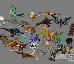 一套飞禽走兽动物模型合集下载