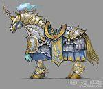 赤壁经典坐骑-铁甲爪黄白马模型下载