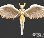金色翅膀的天使模型下载