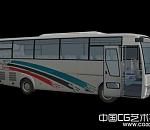 客车模型、班车、汽车模型3a模型
