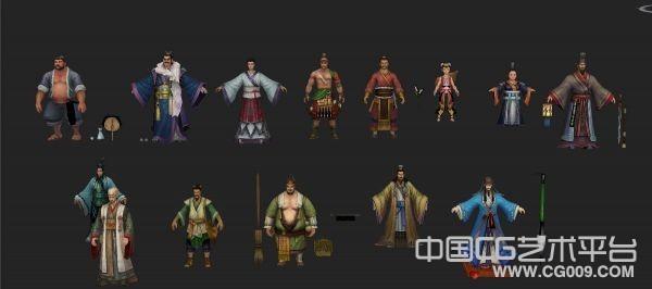 古代武侠人物模型合集下载
