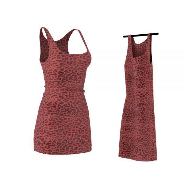豹纹红色裙子3d衣服模型下载