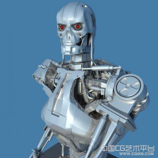 终结者3d科幻机器人模型下载