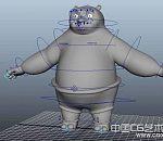 功夫熊猫maya高模 带绑定 带动画