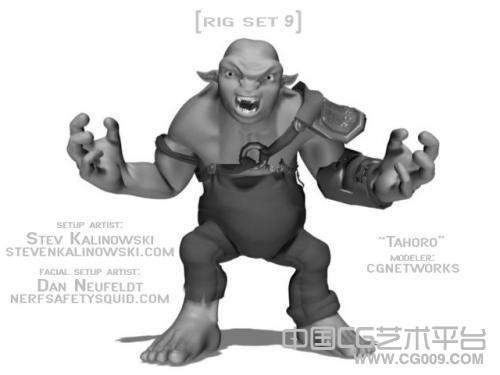 带表情的maya怪兽模型下载 表情很丰富 适合学动