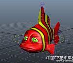 绑定好的maya卡通小丑鱼模型下载