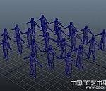 一群maya写实人物模型下载