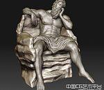 ZBrush高精男人体雕像模型下载