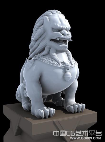 3d石狮雕像模型下载