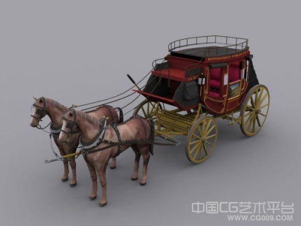 3d马车模型下载