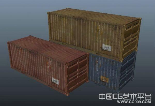 集装箱maya场景模型下载