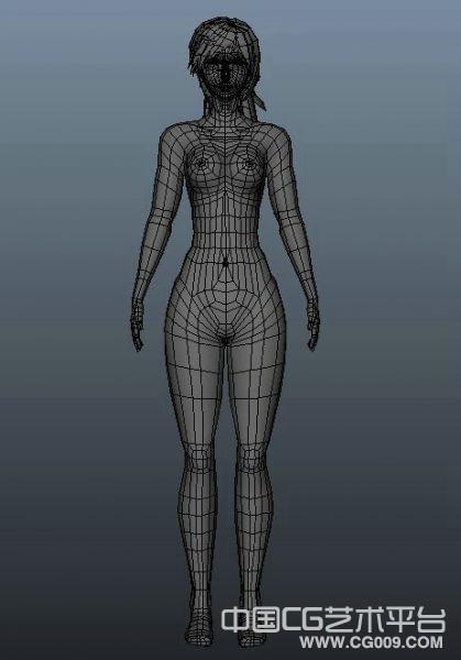 MAYA女人体模型下载 布线不错 适合做动画