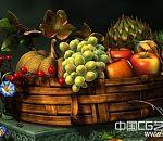 写实水果景物模型下载