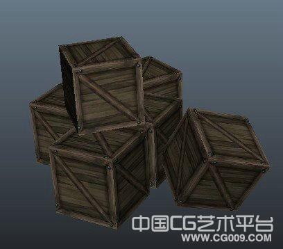 一堆木箱子maya写实场景模型下载