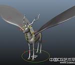 一只绑定的鹿3d模型下载