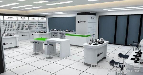 苹果专卖店商场展柜室内模型下载