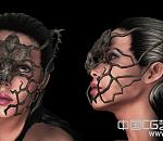 戴面具的女人模型下载