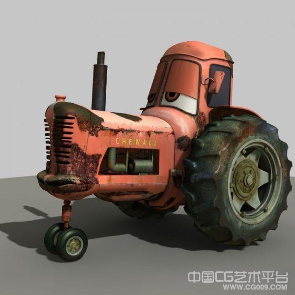 汽车总动员里面的maya卡通搞笑拖拉机模型下载