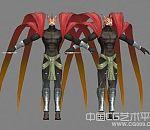 3d鸟人怪物模型下载 怪物鸟人模型,3d鸟怪模型