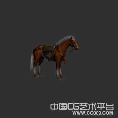 3d战马模型下载