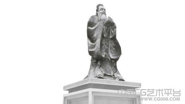 孔子雕像模型下载  3d孔子雕像模型