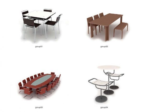各种椅子沙发模型合集下载