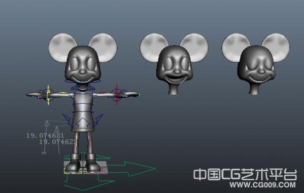 绑定好的卡通老鼠模型  mayaK老鼠模型 卡通3d老鼠