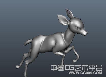 maya梅花鹿模型下载 小鹿模型下载