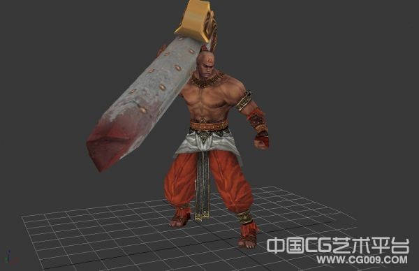 【剑三】3d黑人模型下载  红衣教人物模型下载