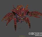 螃蟹BOSS全套动作模型下载  带贴图