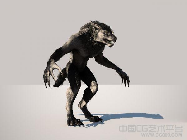 写实狼人3d模型下载  带绑定 带表情  电影级别的