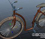 maya自行车模型下载  女士单车模型下载
