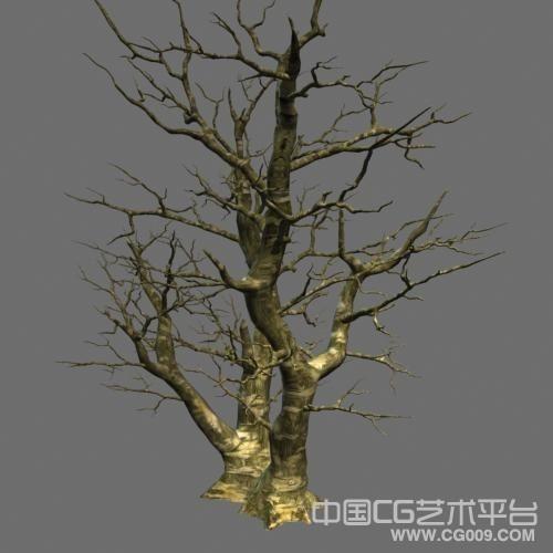冬季落叶大树3dsmax模型下载