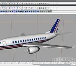 民航飞机模型下载  客机3D模型下载
