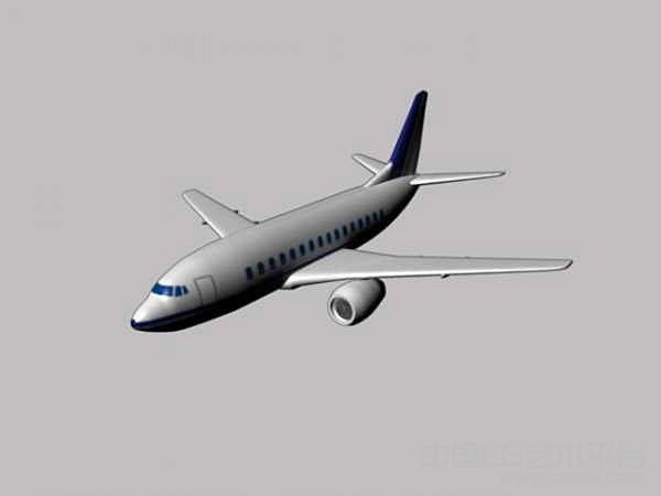 maya民航飞机模型下载