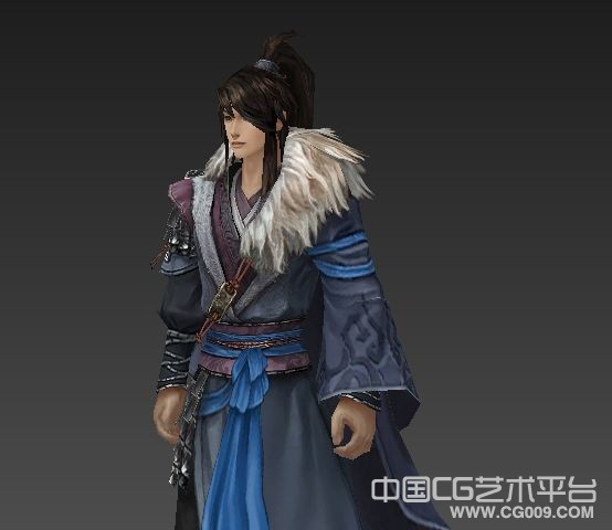 【剑三】古代帅哥手绘模型下载