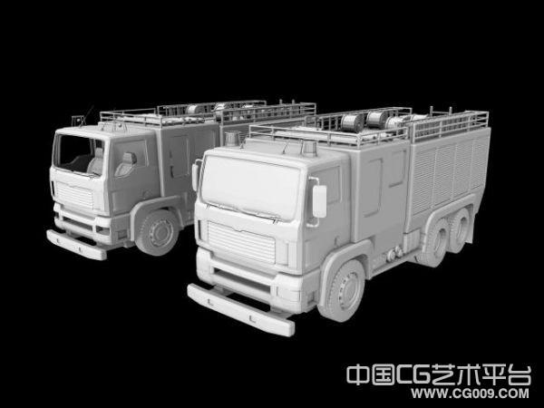 maya消防车高模下载  有MB和obj两种格式