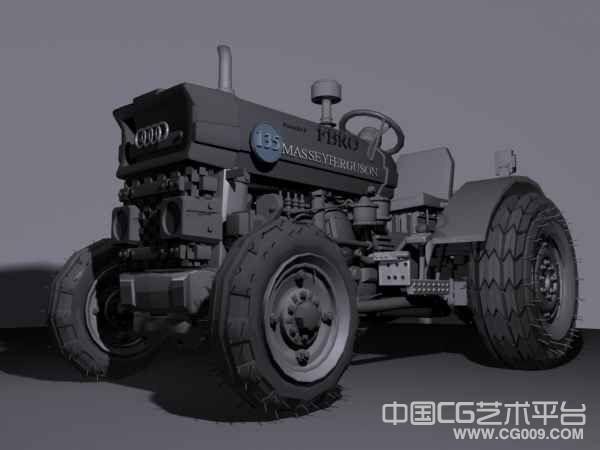 美式拖拉机maya模型下载