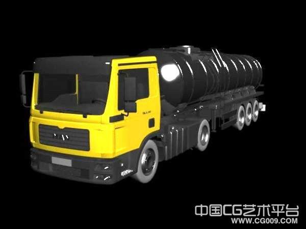 不错的油罐车3d模型下载  油罐卡车模型