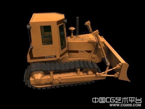 铲车3d模型下载,推土车模型,带贴图