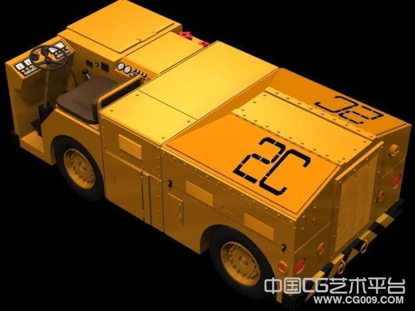 铁路运输工具车3d模型下载 作业车模型带贴图
