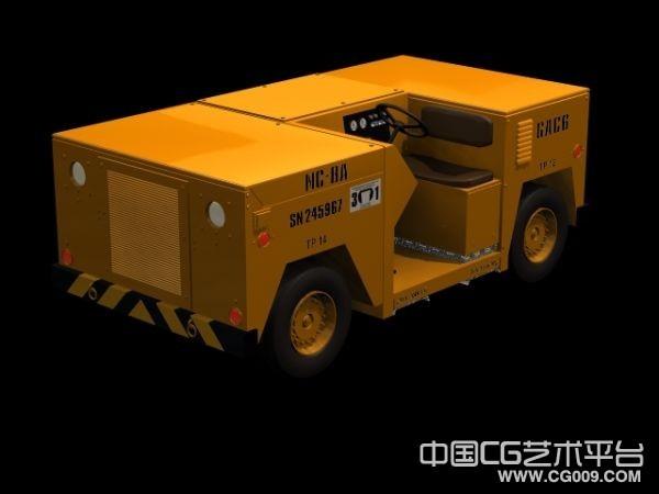 电动作业车模型,工程车3d模型 带贴图