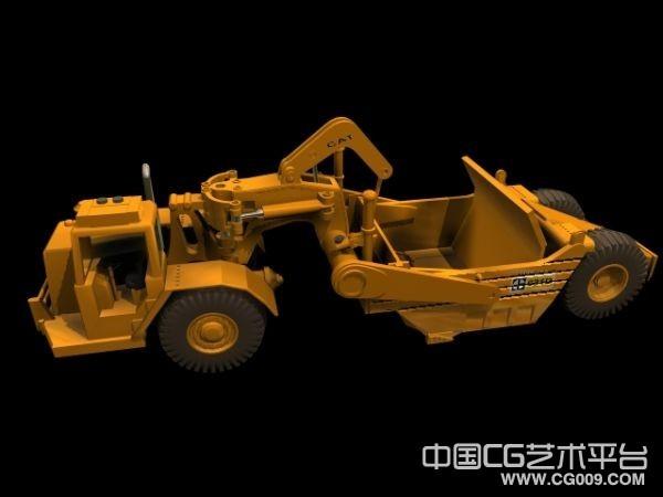 建筑工程车3d模型下载 3d作业车模型下载 有贴图