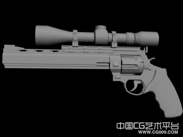 高精极品改装枪支3D模型下载